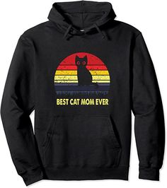 Amazon.com: Vintage Best Black Cat Mom Lover Retro Style Cats Pullover Hoodie : Clothing, Shoes & Jewelry Cat Lover Gifts, Cat Lovers, Cat Shirts, Cool Cats, Fashion Brands, Retro Vintage, Best Gifts, Pullover, Mom