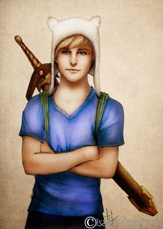 Finn the Human (Adventure Time) - 40 Realistic Versions of Cartoon Characters Page 2 of 2 Best of Web Shrine Realistic Cartoons, Cartoon Drawings Of People, Disney Drawings, Cartoon Images, Finn The Human, Adventure Time Finn, Cartoon Network, Isaiah Stephens, Naruto