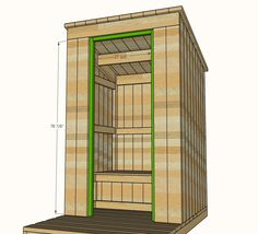 Ana White | Build A Outhouse Plan For Cabin | Free And Easy DIY Project And