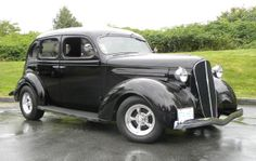 """1937 Plymouth P-4 Touring Sedan.  Miss Kaine's """"every day"""" car."""