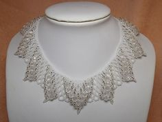 "Necklace ""Ice Crystal"" 