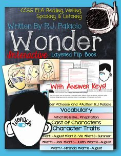 Wonder, by R.J. Palacio: Interactive Layered Flip Book ($)