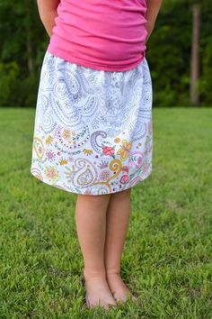 Color Me border-print skirt - a tutorial