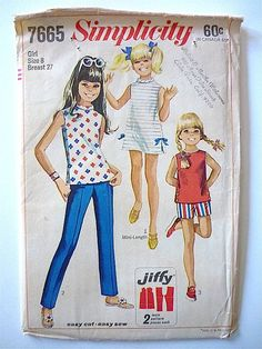 Vintage Sewing Pattern Girl's 60's Uncut by Freshandswanky on Etsy, $4.00
