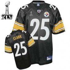 13daf1005 Steelers  25 Ryan Clark Black Super Bowl XLV Stitched Throwback NFL Jersey