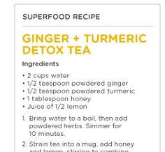 Ginger, Turmeric Detox Tea