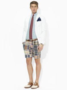 Slim Patchwork Madras Short - Polo Ralph Lauren Shorts - RalphLauren.com