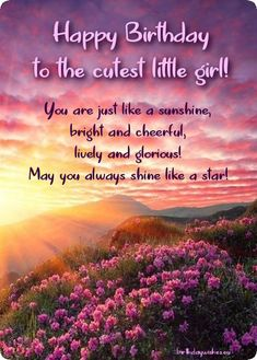 A lovely collection of happy birthday wishes for baby girl, lots of cute cards with birthday messages, greetings and quotes for little girl. Happy Birthday Little Girl, Happy Birthday Quotes For Daughter, Happy Birthday Wishes For A Friend, Birthday Wishes For Daughter, Happy Birthday Images, 25 Birthday, Happy 25th Birthday, Baby Wishes, Birthday Messages