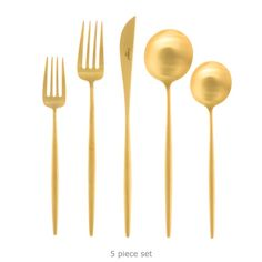 José Joaquim Ribeiro & Cutipol — Moon Brushed Gold Flatware