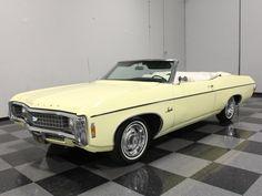 "1969 Impala convertible in original ""butternut yellow"".-mrimpalasautoparts.com"