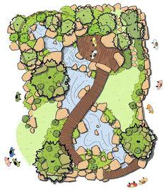 Deck Fire Pit, Fire Pits, Garden Drawing, Timber Deck, Garden Show, Ponds Backyard, Garden Landscape Design, Water Garden, Deco