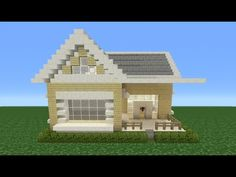 Minecraft Tutorial: How To Make A Suburban House - 4 - YouTube