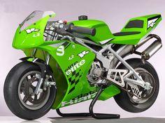 sports bike:)  love the green!