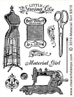 sewing related vintage Printables Sewing Art, Sewing Rooms, Sewing Crafts, Antique Sewing Machines, Vintage Sewing Patterns, Etiquette Vintage, Sewing Studio, Tampons, Vintage Ephemera