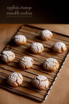 eggless orange crinkle cookies - cookies made from fresh orange juice, whole wheat flour/atta and gram flour/besan. step by step recipe.