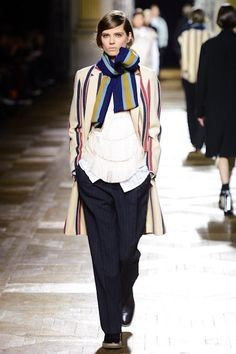 Dries van Noten fall '13: mixed stripes with slouchy layers