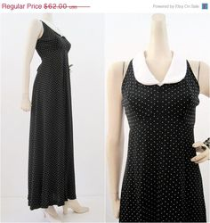70s Dolly Empire Waist Wednesday Addams Dress M at voguevintage on Etsy
