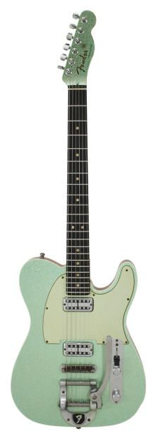 Fender Custom Shop Double TV Jones Telecaster Bigsby Sea Foam Green Metallic | Reverb