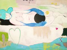 Large Original Abstract Acrylic Painting on a 30 x 40 by barnheart, $450.00