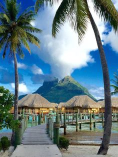 Incredible view of Mount Otemanu from the Pearl Beach Resort, Bora Bora
