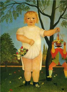Henri Rousseau (1844 - 1910) | Naïve Art (Primitivism) | Child with a Puppet  - 1903