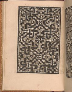 Published by Nicolo Zoppino, Italian, active 16th century, Venice, designed by Matteo da Treviso, Italian, active 16th century.<br/>From top to bottom, and left to right:<br/>Design is decorated with a pattern of large diamonds containing a snowflake in the center and smaller diamonds at each corner