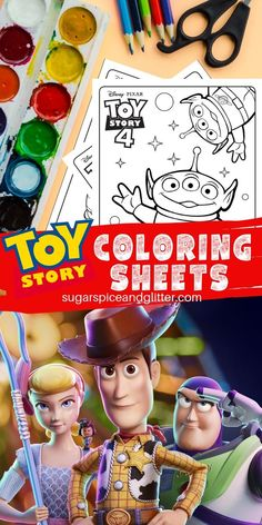 Toy Story Coloring Sheets are perfect for creative Disney kids who can't get enough of their favorite characters. Perfect for a Toy Story party or family movie night Toy Story Movie, New Toy Story, Toy Story Buzz, Toy Story Party, Toy Story Birthday, 4th Birthday, Birthday Ideas, Printable Activities For Kids, Science Activities For Kids