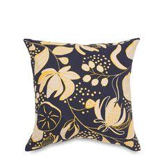 Lotus Ink and Citron Cushion Cover by Citta Design | Citta Design Australia