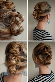 30 Days of Twist & Pin Hairstyles – Triple rolled plait