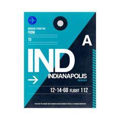 Indianapolis Luggage Tag