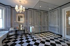 Dream B Bathroom - contemporary - bathroom - new york - Bianca B. Chic Bathrooms, Dream Bathrooms, Beautiful Bathrooms, Luxurious Bathrooms, Beach Bathrooms, White Bathroom, Master Bathroom, Washroom, White Shower