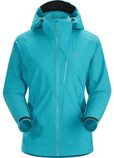 Psiphon FL Hoody Women's Women's hooded softshell with a precision fit and hybrid construction. Purpose built for rock and alpine climbing.