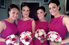 Fab shade of pink! These Raspberry 'M561' dresses are from True Bride