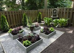 """Goodbye Grass: 13 Inspiring Ideas for a """"No Mow"""" Backyard Raised garden beds aren't just for vegetables. In a shady yard, try planting raised beds with coleus (great way to eliminate weeding) Small Garden Landscape, Backyard Ideas For Small Yards, Small Backyard Landscaping, Backyard Garden Design, Landscape Design, No Grass Landscaping, Small Patio, Large Backyard, Backyard Designs"""