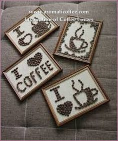 diy projekte 16 Stunning Coffee Bean Crafts For Co - Coffee Bean Decor, Coffee Bean Art, Coffee Crafts, Coffee Beans, Diy And Crafts, Arts And Crafts, Tips And Tricks, Creation Deco, Pebble Art