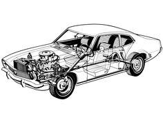 1973-1979 Ford Maverick (BR-specs) - Illustration uncredited