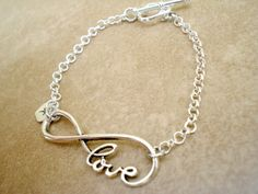 Personalized Infinity Knot Love Bracelet with by TJsTreasureChest, $15.00