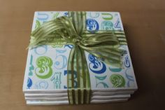 """Creativity Stirs The Soul: Tile Coasters """"Quick and Easy"""" - pretty and easy to make"""