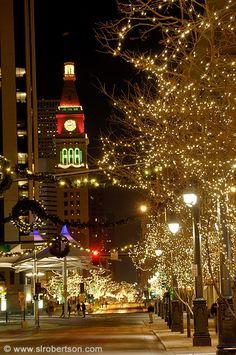 Downtown Denver Christmas Lights -AWWWW I miss it so