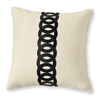 rings pillow - chocolate - a modern, contemporary pillow from chiasso $48