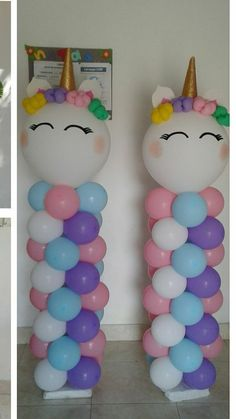 DIY Birthday Decorations for Girls Tween – Balloon Columns unicorn balloon columns Diy Unicorn Birthday Party, Unicorn Birthday Decorations, Unicorn Birthday Invitations, 1st Birthday Parties, Birthday Ideas, Unicorn Decorations Party, Baby Birthday, Balloon Decorations, Unicorn Baby Shower