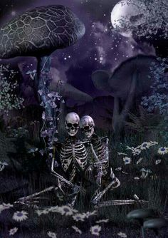 Dark Fantasy is the Best Fantasy Fantasy Kunst, Dark Fantasy Art, Dark Art, Skeleton Love, Skeleton Art, Creepy, Art Of Dan, Totenkopf Tattoos, Skull Pictures