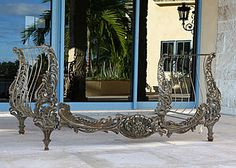 Antique Daybed | French Antique Daybed | French Daybed | Antique Settee | Settee | Alhambra AntiquesFrench Antique Wrought and Cast Iron Daybed