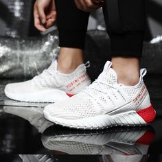 Men's Shoes Season Breathable White Shoes Men's Tide Shoes Mesh Sports Wild New Trend Running Shoes, mini crossbody bag, vintage messenger bag, hippie crossbody bags running ideas, running shoes 2017, gifts for triathletes #runnergirl #momentumjewelry #sweatshirt, back to school, aesthetic wallpaper, y2k fashion Best Sneakers, Sneakers Fashion, White Shoes Men, Sneakers For Plantar Fasciitis, Vintage Messenger Bag, Mini Crossbody Bag, Running Shirts, Running Shoes For Men, Types Of Shoes