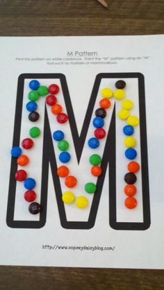 """M on letter """"M""""- mouse - money - marshmallows- muffin - moose Preschool Letter M, Letter M Crafts, Letter M Activities, Alphabet Crafts, Preschool Curriculum, Kindergarten Literacy, Kindergarten Activities, Preschool Activities, Letter Games"""