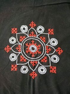 Phulkari Embroidery, Hand Embroidery Dress, Embroidery Neck Designs, Hand Embroidery Videos, Hand Embroidery Tutorial, Embroidery On Clothes, Embroidery Works, Embroidery Motifs, Cross Stitch Embroidery