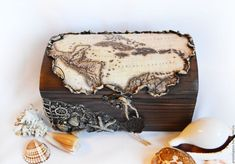 Trinket Boxes handmade. Vintage trunk 'map of the Sea' decoupage. hobbyfantasy. Online shopping on My Livemaster.