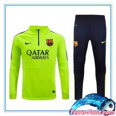 Nouveau Survetement de foot FC Barcelone Vert 2015 2016