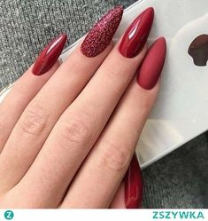 - Best ideas for decoration and makeup - Red Gel Nails, Glitter Nails, Lemon Nails, Cute Almond Nails, Fire Nails, Dream Nails, Nagel Gel, Square Nails, Perfect Nails