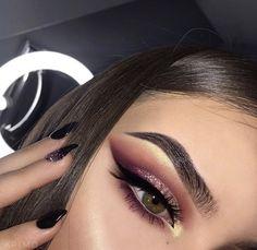 eye makeup make up augen, ma Glam Makeup, Cute Makeup, Gorgeous Makeup, Pretty Makeup, Skin Makeup, Makeup Inspo, Makeup Inspiration, Makeup Ideas, Sparkly Makeup